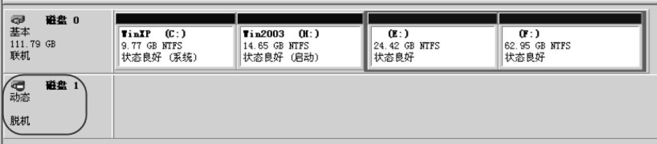 动态磁盘扩展卷丢失的恢复实例