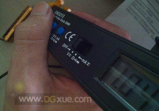 测量一节GP超霸干电池电压
