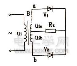 二极管全波整流电路