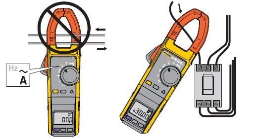 钳形电流表夹线测量