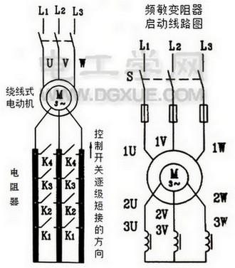 绕线式电动机启动接线图