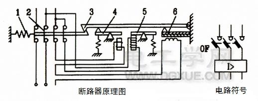 断路器工作原理图