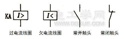 电流继电器电路符号
