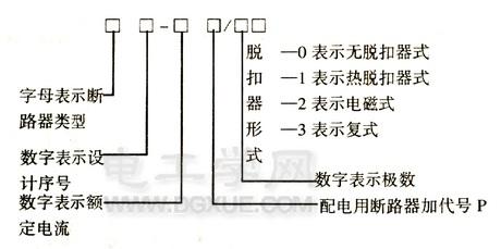 低压断路器型号含义