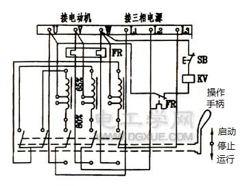三相电动机自耦变压器降压启动控制电路图解
