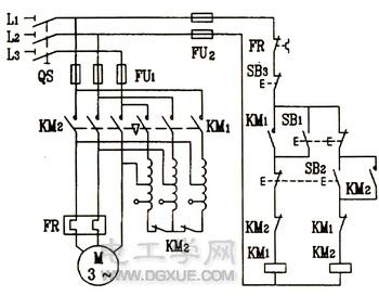 接触器控制自耦变压器降压起动电路图