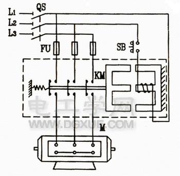 点动自锁控制电路图_电动机点动控制电路