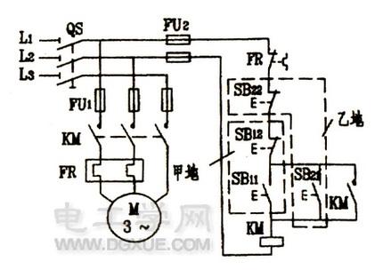 电机多地控制电路图原理讲解