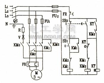 能耗制动自动控制电路