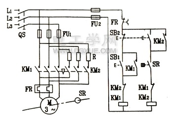 三相电动机单向启动反接制动控制电路图解