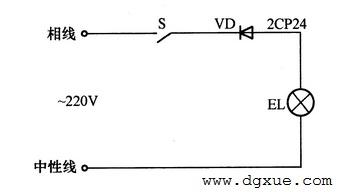 二极管延长白炽灯寿命应用电路