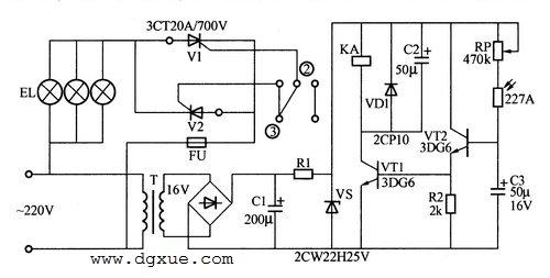 光控开关实现室外自动照明电路