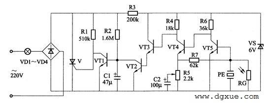 光控、声控、延时自动关灯照明电路