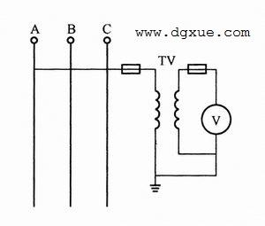 经过电压互感器测量单相电压电路