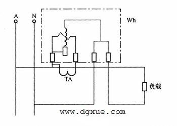 单相电表经电流互感器测电能