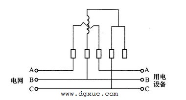 用单相有功电表测量三相无功电能电路接线图