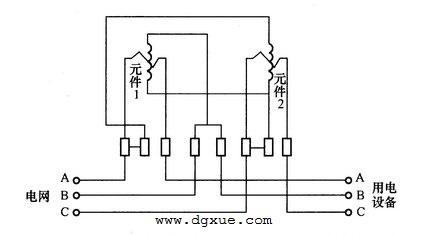 三相无功电表测量三相无功电路接线图