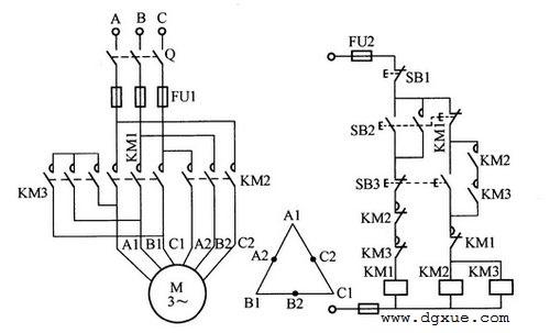 双速异步电动机启动控制电路接线图