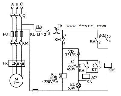 电动机断电自动快速再启动电路
