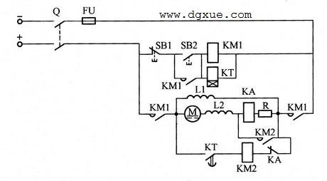 按电流原则切除启动电阻控制直流电动机起动的电路