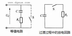 等电位作业的等值电路及放电回路