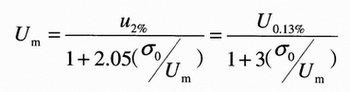 Um与系统统计过电压关系