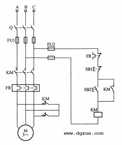 异步电动机短接制动控制电路