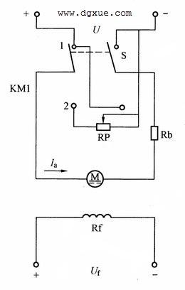直流电动机反接制动电路