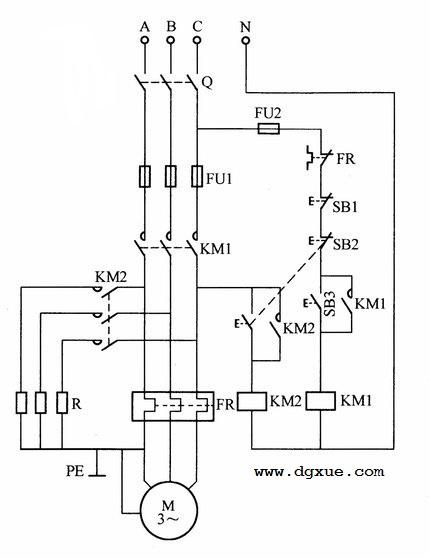 电动机紧急停止电路