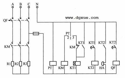 温控器控制电加热炉电路