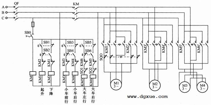 单梁桥(门)式电动葫芦起重机电路