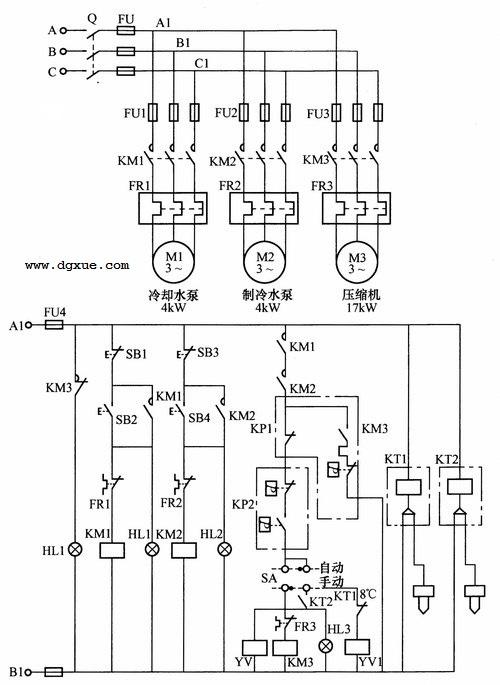 水冷式中央空调系统电路