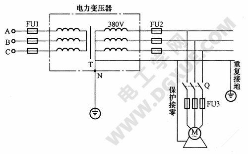 电动机保护接零电路图(保护接零)