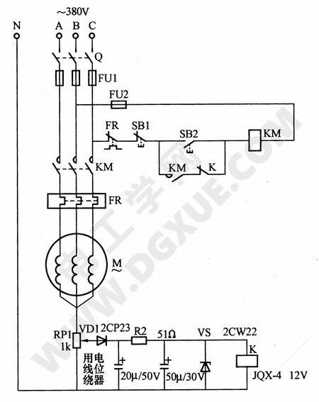 星形连接电动机缺相保护电路图解