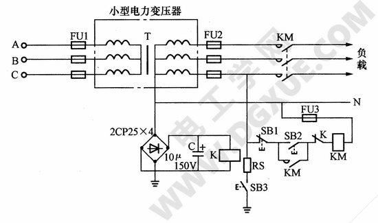 电压型低压触电保护器应用电路图