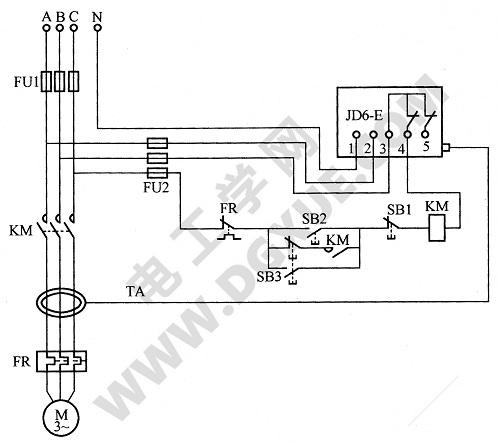 漏电继电器组成的多功能电动机保护电路