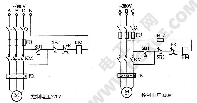 缺少辅助触头的交流接触器应急接线电路