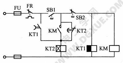 防止电压波动造成电动机停止转动的电路