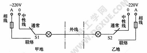 用一根导线传递联络信号