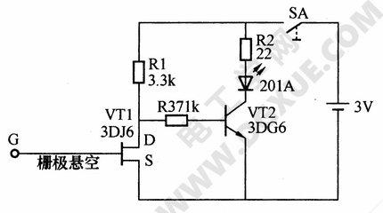 一种简易测量导线断芯位置的电路