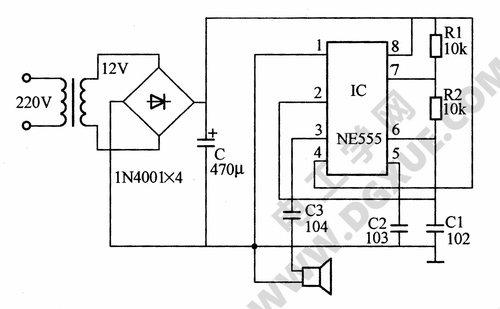 电子驱鼠器电路图