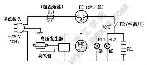 低温臭氧电子消毒柜电路图