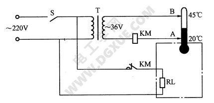 简单温度控制器电路