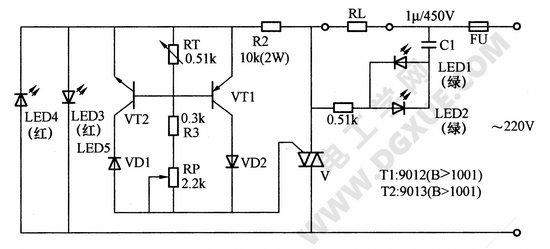 双向晶闸管控温电路