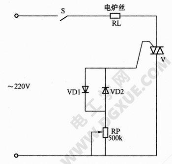 电炉用简易晶闸管温度控制电路