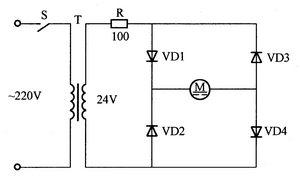 交流电源驱动直流电动机控制电路