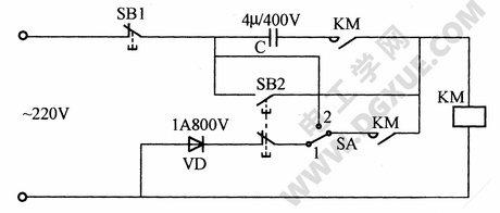 交流接触器改直流运行节电电路