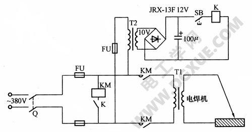 简易交流电焊机节电电路
