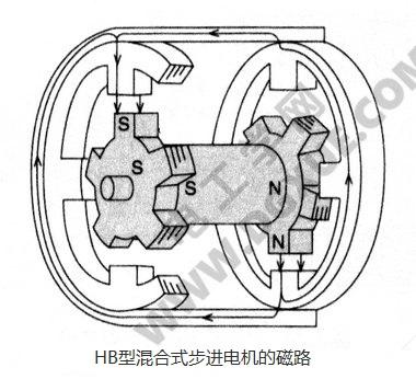 HB型混合式步进电机的磁路