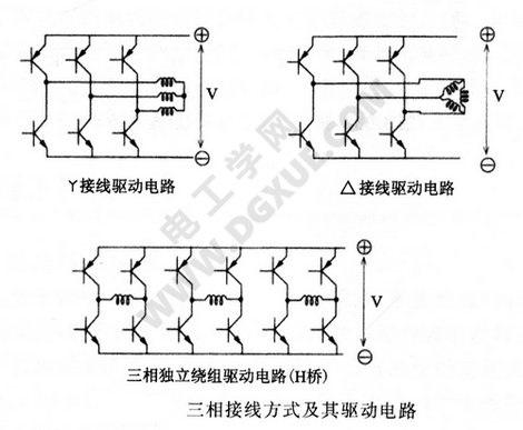 三相接线方式及其驱动电路